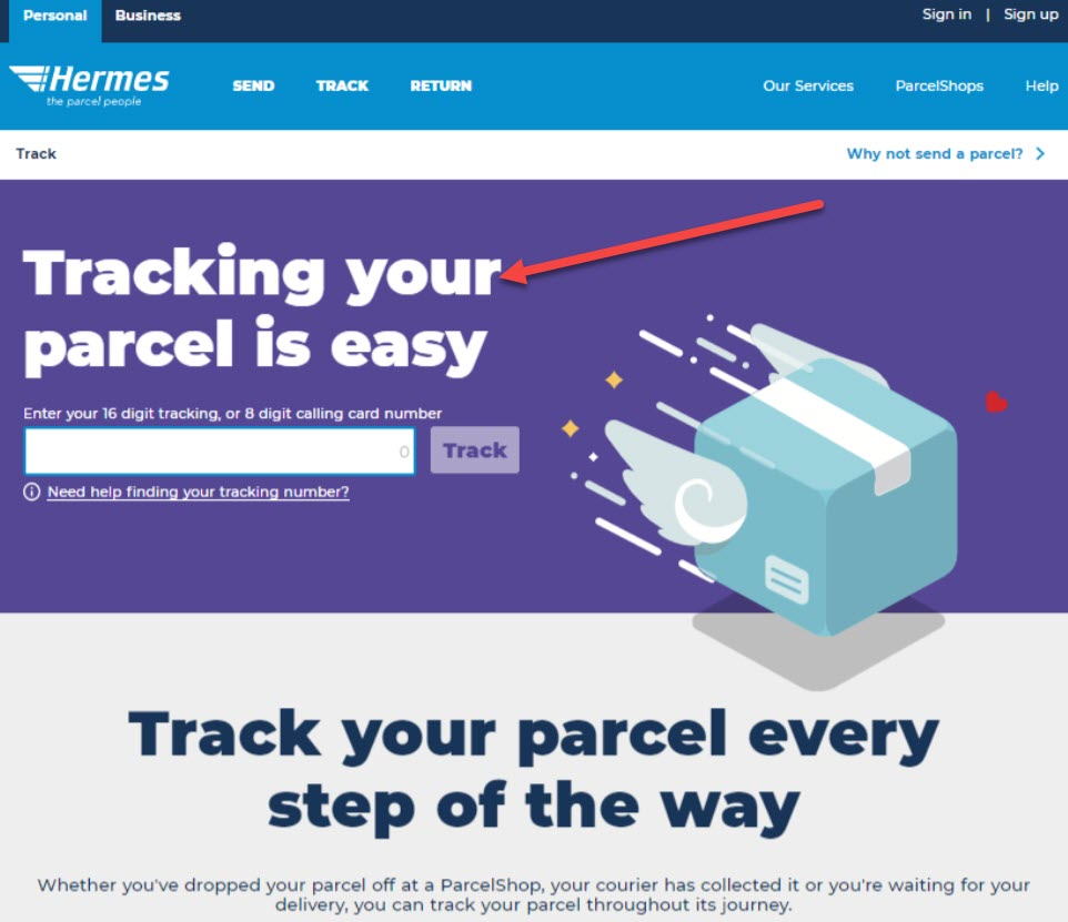 myHermes Parcel Tracking