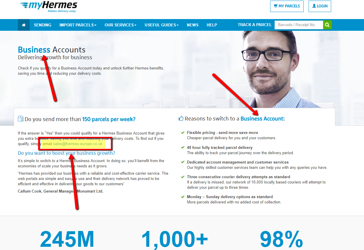 myhermes business