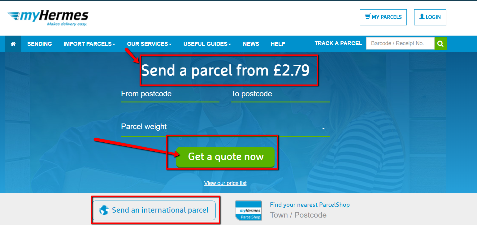 myhermes parcel prices