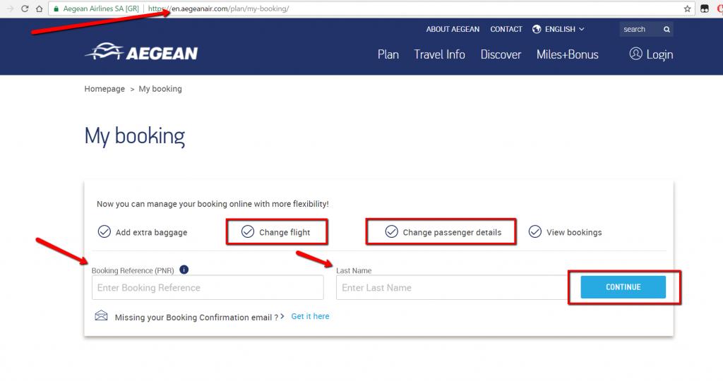 Cancel Aegean Airlines