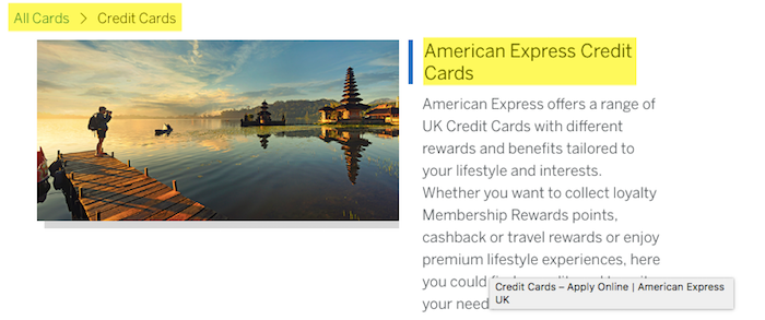 American Express credit card number