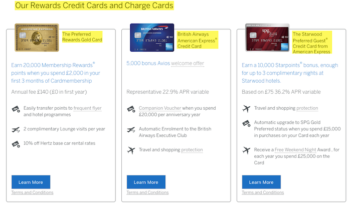American Express membership reward credit card