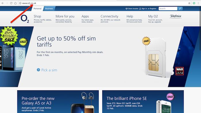O2 Homepage