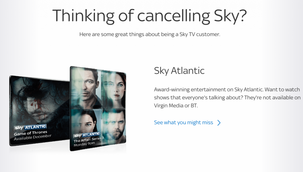 Sky Cancellation