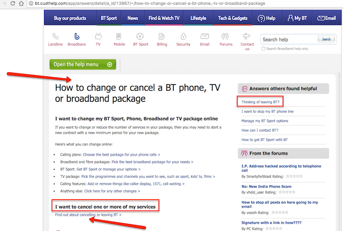BT Customer Help