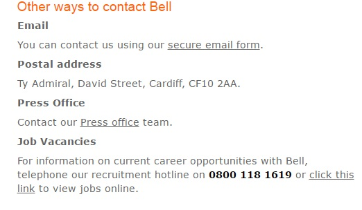 Bell recruitment number