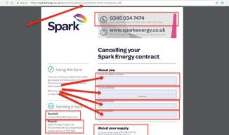Spark Energy Cancel