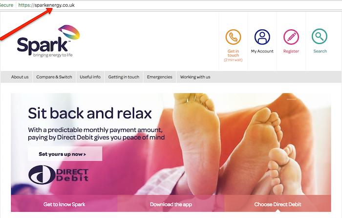 Spark Energy Homepage