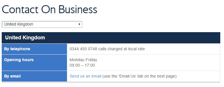 British Airways contact on business