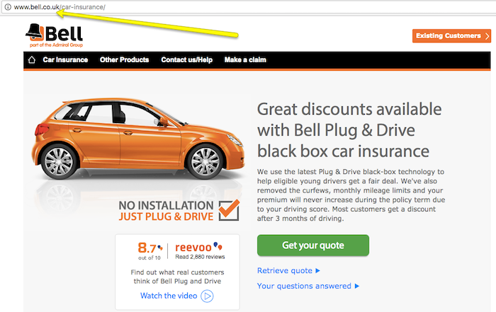 Bell Insurance Homepage