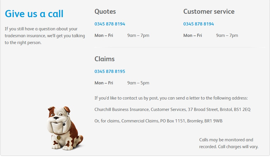Churchill Tradesman Insurance