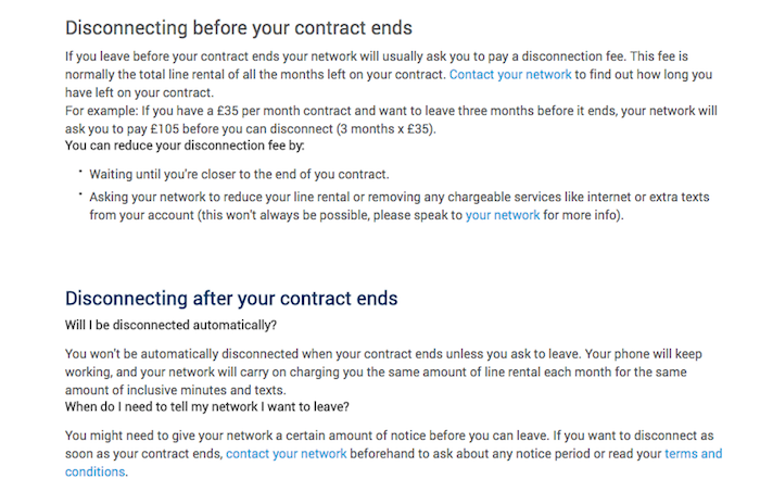 carphonewarehouse cancel contract
