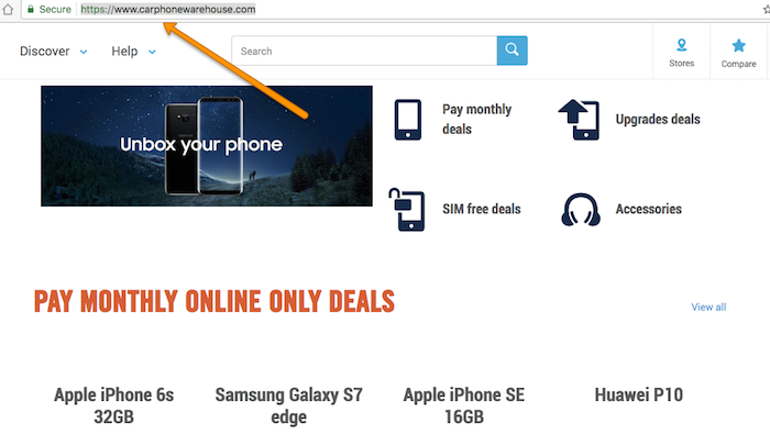carphone warehouse homepage