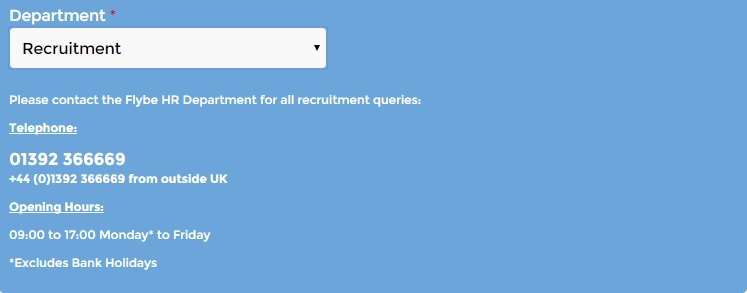 Flybe recruitment