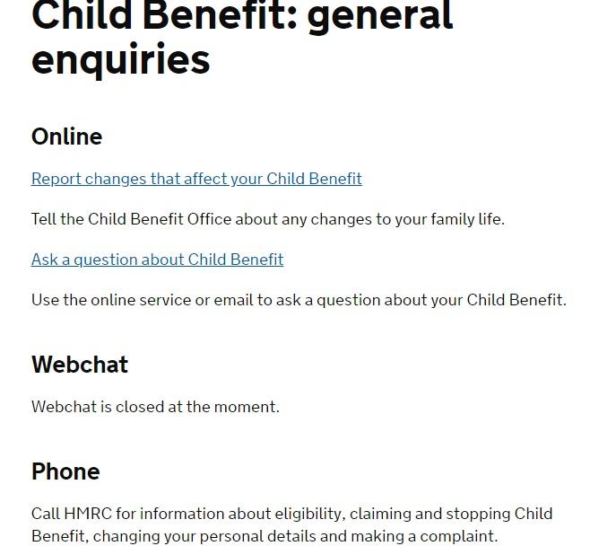 Hmrc customer service phone number 0300 790 6802 hmrc child benefit spiritdancerdesigns Gallery