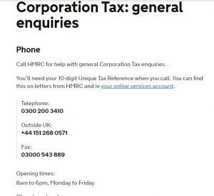 Hmrc Corporation Tax Contact