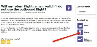 Cancel Flybe outbound flight