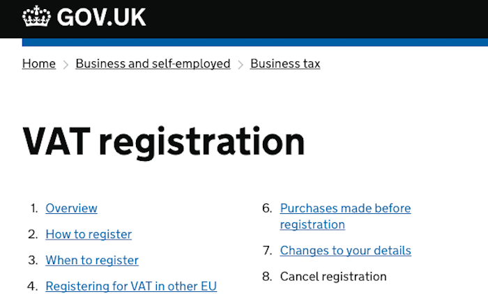 cancel vat registration