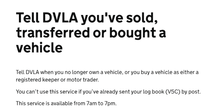 dvla sold your car