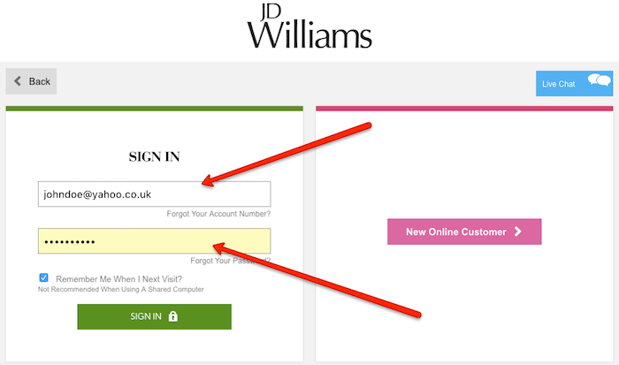 Cancel JD Williams account