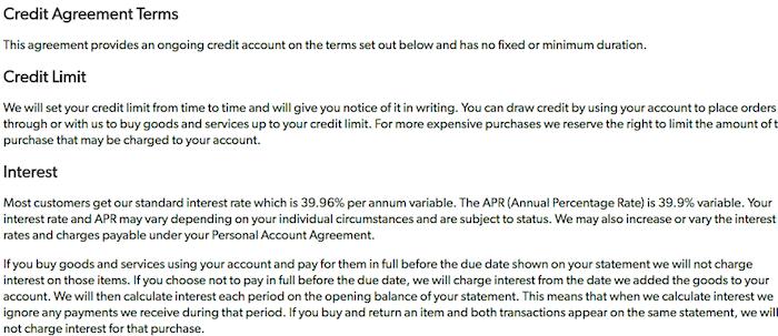 JD Williams Credit Limit Cancellation