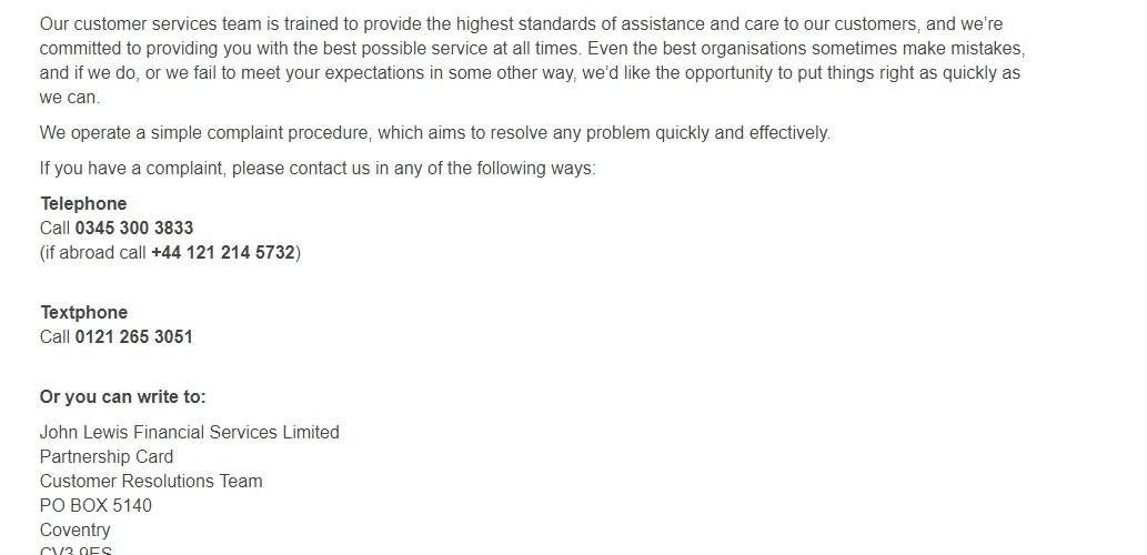 John Lewis Car Insurance Contact