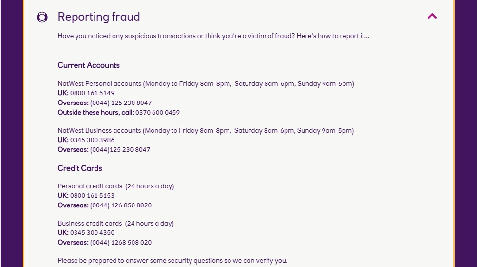Natwest Fraud Team