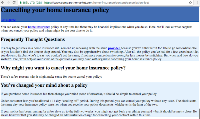 Comparethemarket home insurance