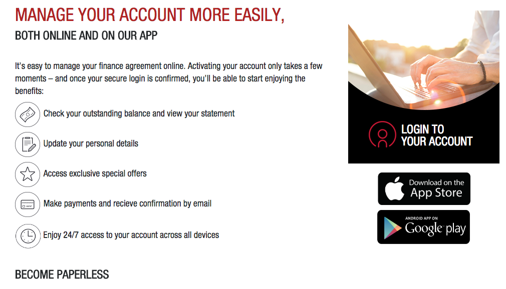 Nissan Finance Account