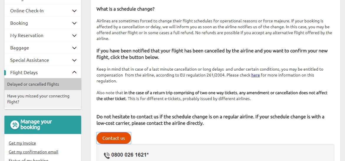 opodo changing flights