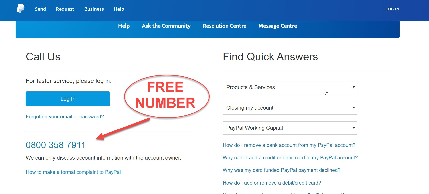 Paypal Customers Contact Number  Free Phone Uk