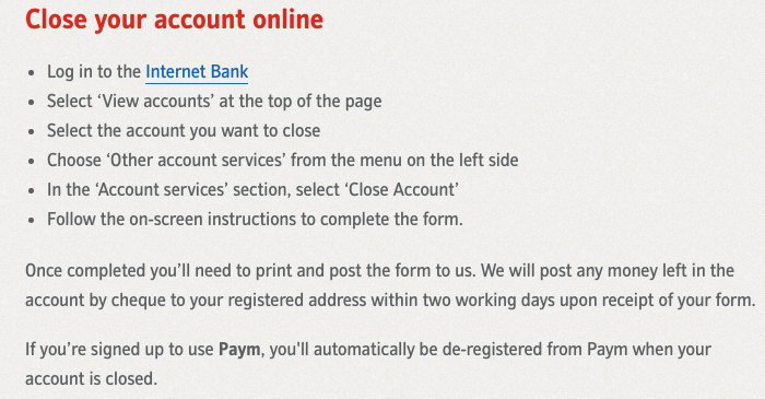 Cancel Nationwide account