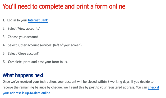 Cancel Nationwide Savings Account