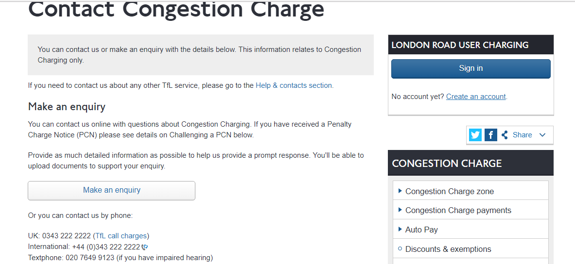 Oyster congestion charge number