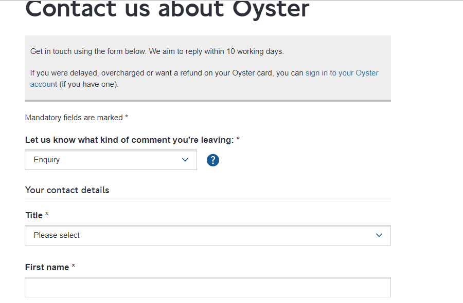 Oyster contact pge