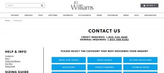 JD Williams contact Numbers
