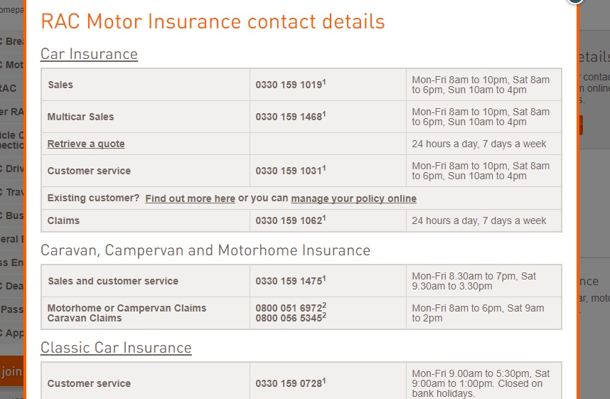 Rac Customer Service Contact Number 0192 243 7000 Breakdown