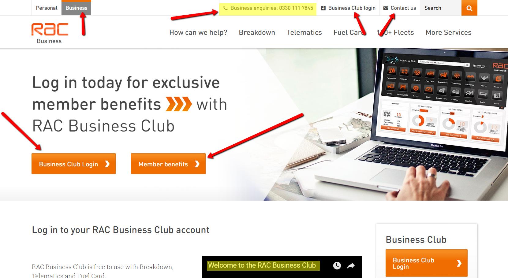 RAC Business Club