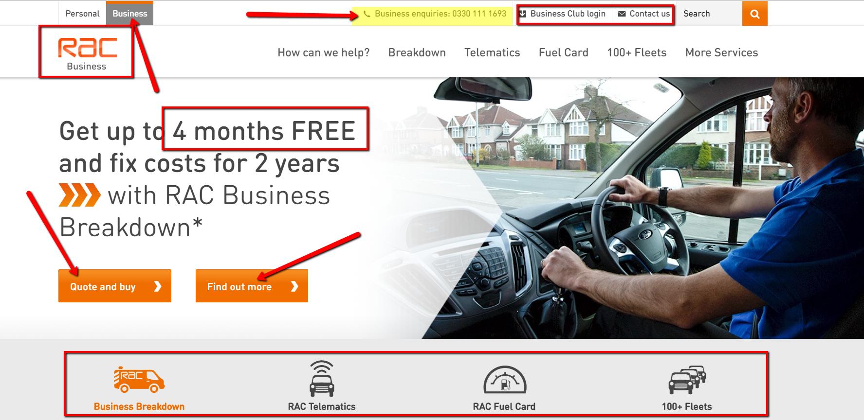 RAC Business Customer Driving