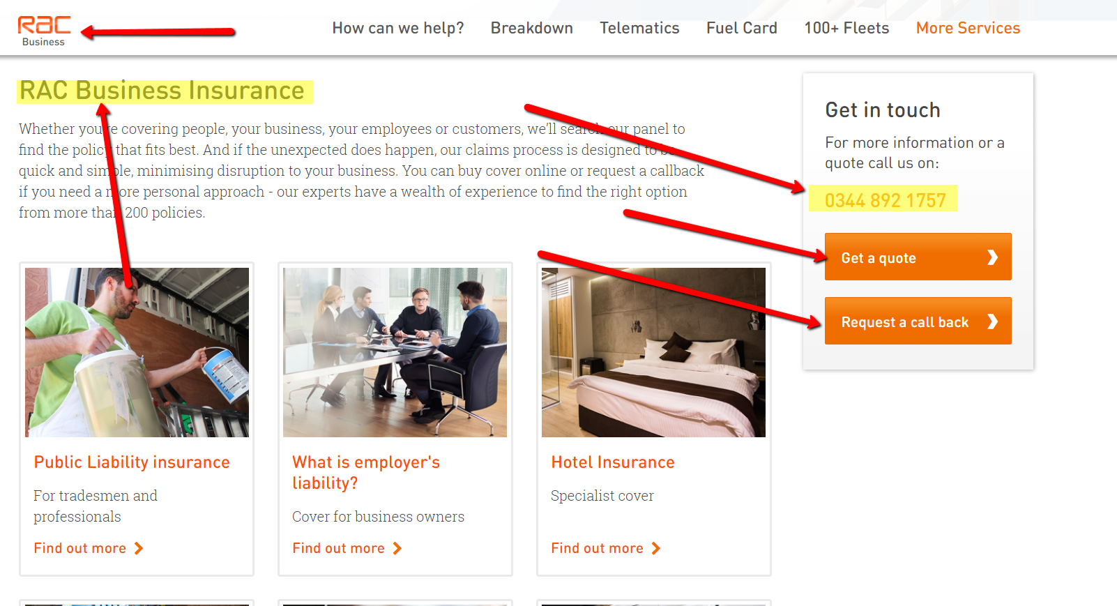 RAC Business Insurance