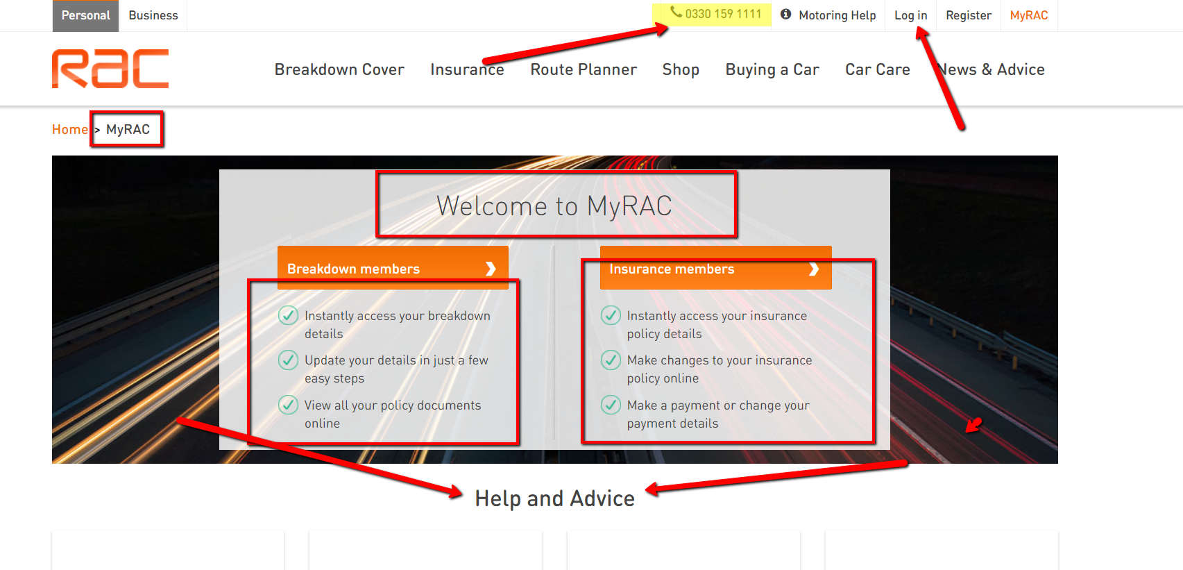 MyRAC Account