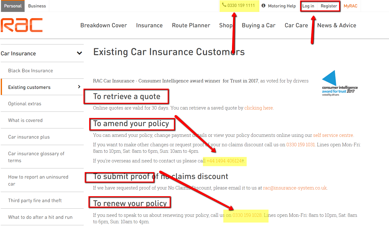 Rac Car Insurance Contact Number Uk