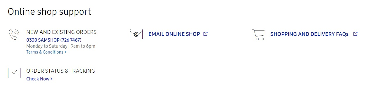 Samsung Online Shop Customer Care Number