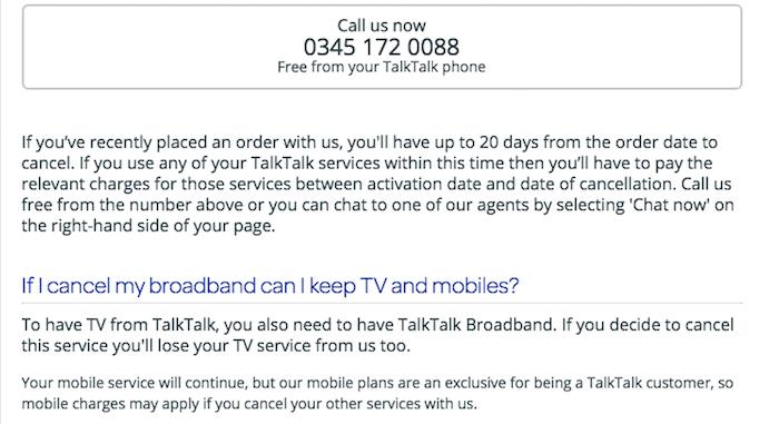 cancel talk talk broadband