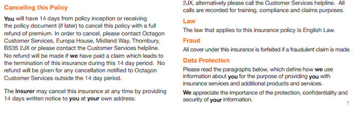 Octagon Insurance Lost Keys Protection