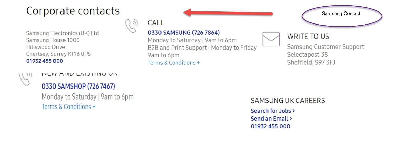 Samsung uk customers contact number and support 0843 837 5412 samsung contact numbers publicscrutiny Choice Image