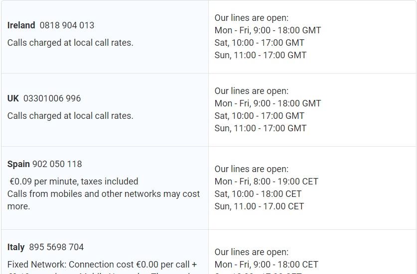 Ryanair Flexi Plus service numbers