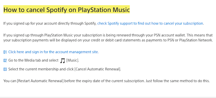 Cancel Spotify Directly