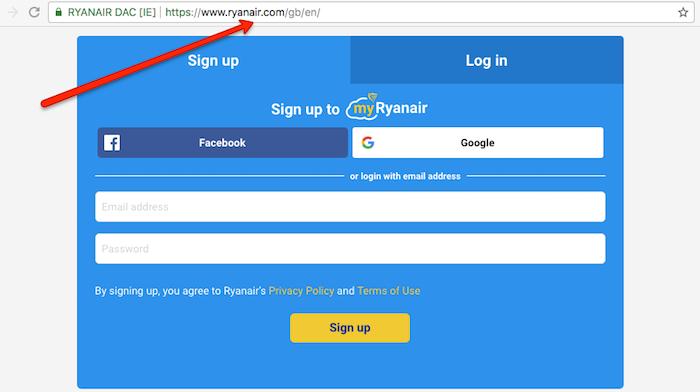 Ryanair Homepage