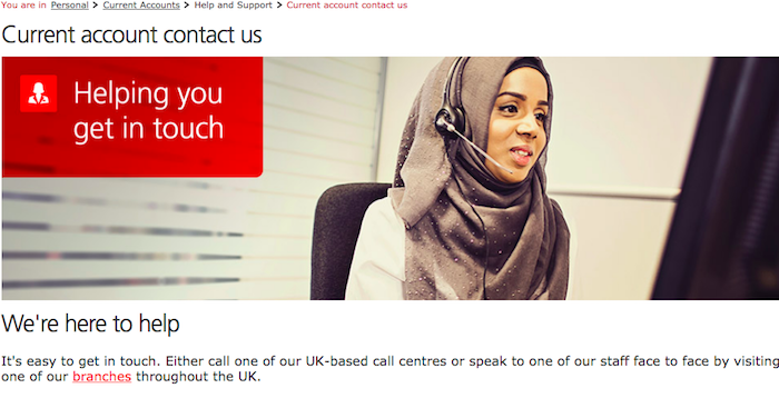 Santander UK help from abroad